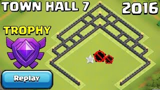 getlinkyoutube.com-TH7 TROPHY/FARMING Base + REPLAYS PROOF UNDEFEATED | Town Hall 7 Crystal League - Clash of Clans