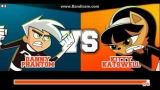 getlinkyoutube.com-Super Brawl 2 - DANNY PHANTOM vs KITTY KATSWELL