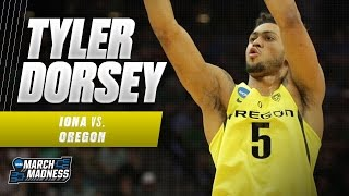 Tyler Dorsey's 24 points helps Oregon roll past Iona