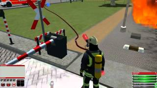 getlinkyoutube.com-Feuerwehr Simulator 2010 - Bahnübergang [ Mission 8 ]