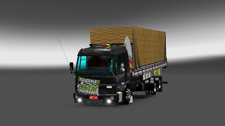 getlinkyoutube.com-Euro Truck Simulator 2 - Mod - Ford Cargo 2428 + Interior Para 1.23,1.24