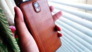 getlinkyoutube.com-Wooden Galaxy Note 3! (Slickwraps Skin Review)