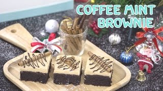 COFFEE MINT BROWNIE สูตรอาหาร วิธีทำ แม่บ้าน