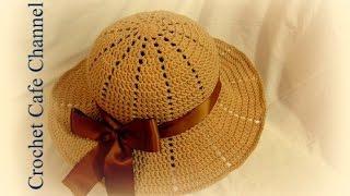كروشيه قبعة للشمس Chapeau | #كروشيه كافيه#