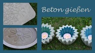 getlinkyoutube.com-DIY - Beton gießen - Romantische Trittplatten, zauberhafte Wasserschalen und fröhliche Windlichter