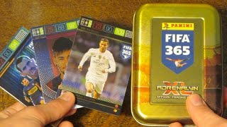 getlinkyoutube.com-TOP MASTER! Fifa 365 Adrenalyn XL Tin Opening!