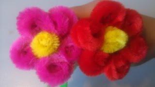Flor con Limpiapipas