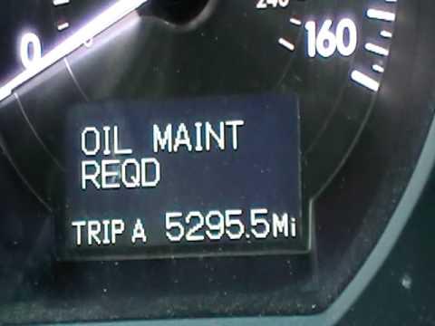 How to reset maint reqd light on Lexus GS
