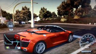 getlinkyoutube.com-Test Drive Unlimited 2 (PS3): Audi R8 V10 Spyder Cruising [720p]