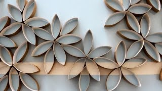 getlinkyoutube.com-Flores de papel hechas con rollos de papel del baño (DIY)