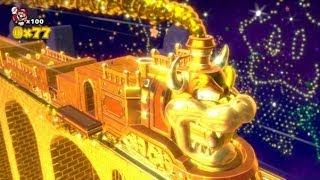 getlinkyoutube.com-Super Mario 3D World 100% Walkthrough - World 5 Gold Train Bonus Level
