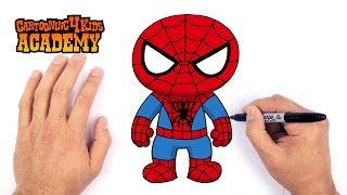 getlinkyoutube.com-How to Draw Spiderman- Art for Beginners