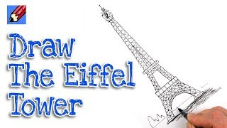 getlinkyoutube.com-How to draw the Eiffel Tower Real Easy