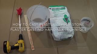 getlinkyoutube.com-How to cast plaster/gypsum stone, plaster casting hand mix technique
