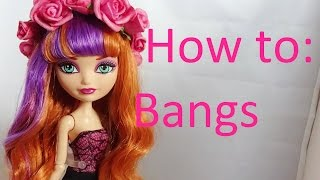 getlinkyoutube.com-Doll Hair Tutorial: NO-CUT Bangs on Ever After High dolls by EahBoy