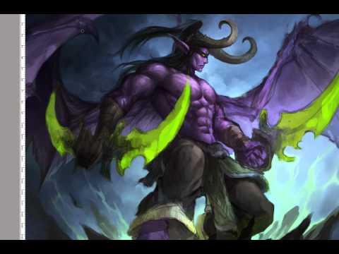 Illidan Stormrage fanart process