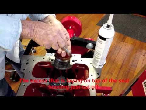 Rear crankshaft seal conversion for 3.4, 3.8 & 4.2 liter Jaguar engines