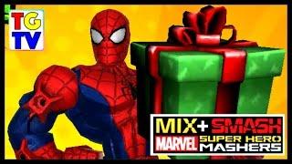 getlinkyoutube.com-Marvel Super Hero Mashers Spider-Man (Battles Edited) | Mix + Smash