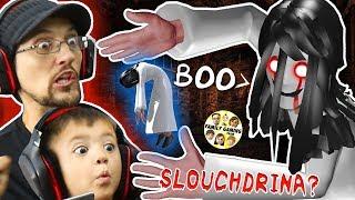 SLENDRINA's SLOUCHY SISTER? = SLOUCHDRINA!  FGTEEV Shawn Plays Hello Neighbor Granny Style Game width=