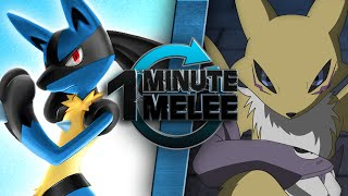 getlinkyoutube.com-One Minute Melee - Lucario vs Renamon (Pokémon vs Digimon)