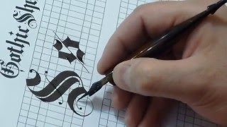 """How to Write """"S & s"""" in Gothic style"""