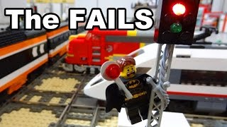 getlinkyoutube.com-The FAILS: Lego train rail crossing automated by Arduino