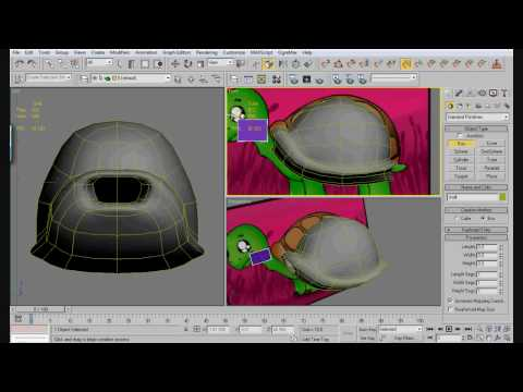 3ds max tutorial - Turtle (2/3)