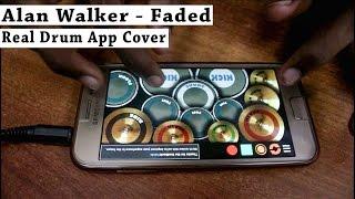 Alan Walker - Faded (Real Drum App Cover) - By Vijay Yadavar width=