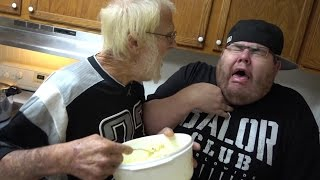 getlinkyoutube.com-ANGRY GRANDPA'S EGG SALAD FREAKOUT!!