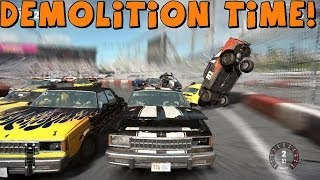 getlinkyoutube.com-Tomcat Plays | Next Car Game | V8 Turbo Turd Demolition Derby and Figure Eight!