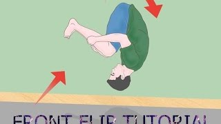 تعلم الباركور حركة فرونت فلب How to do front flip