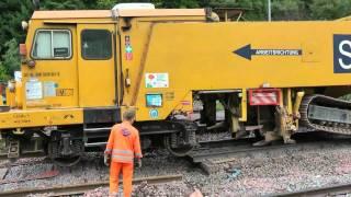 getlinkyoutube.com-Spoorwerkzaamheden Goebelsmühle (deel 1) - September 2010