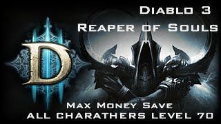 getlinkyoutube.com-[PS3] Diablo 3 Reaper of Souls *Max Money Save + All Character Level 70*