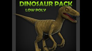 Low Poly Dinosaur Pack