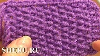 getlinkyoutube.com-Knitting Stitches Patterns  Урок 2 Жемчужный узор спицами
