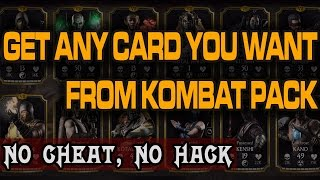 getlinkyoutube.com-Mortal Kombat X Mobile Glitch. Open Kombat Pack until you get Desired Kard.