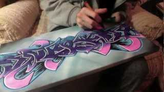 "getlinkyoutube.com-""JIYOUNG"" Graffiti Canvas"