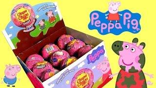 getlinkyoutube.com-Chupa Chups Peppa Pig Choco Toys Surprise Box - Nickelodeon Свинка Пеппа Сюрприз Чупа Чупс