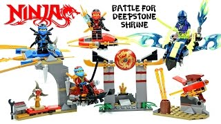 Ninjago Battle for Deepstone Shrine Unofficial LEGO Knockoff Set w/ Jay Kai Nya & Hackler