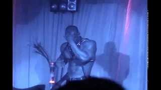 getlinkyoutube.com-Punisher (Sharay Hayes) performs a male strip show at club abyss - getpunished.com