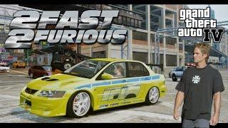 getlinkyoutube.com-GTA IV. Escape to Mitsubishi Evolution VII (2 Fast 2 Furious Style).
