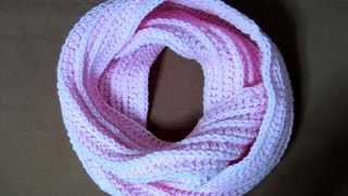 getlinkyoutube.com-Πλεκτος Λαιμος No3 / Crochet Knit-like Infinity Scarf (english subs)