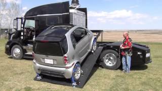 getlinkyoutube.com-RVHaulers Phoenix Hydraulic Smart Car Loader Bed Demo and Tour