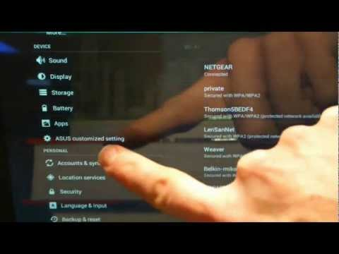 Android Tablet Basics: Volume 1 (20 tips) - Asus Transformer Prime Video (TF201, TF300, TF700)