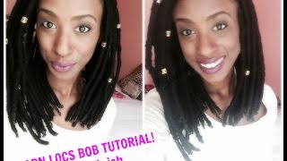 getlinkyoutube.com-Protective Styling Method Tutorial: Yarn Locs Bob