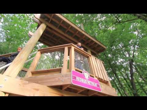 Treehouses at Flat Fork Creek Park in Fishers, IN