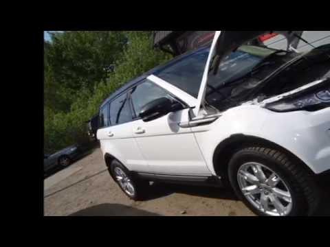 Ремонт автомобиля Range Rover Evoque, стапельные работы (V-Studio)