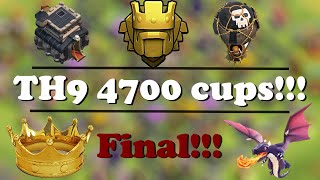 TH9 Titan above 4700 cups | Final of Road to Titan 1 | Clash of Clans