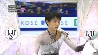 [HD] 羽生結弦 Yuzuru Hanyu - 2014 ISU World Championships - FS