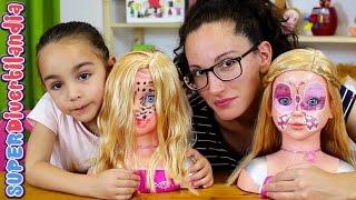 getlinkyoutube.com-Reto de maquillaje con muñecas en SUPERDivertilandia! Juguete de peluqueria.